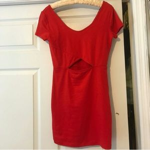 Forever 21 red dress woth stomach cut out